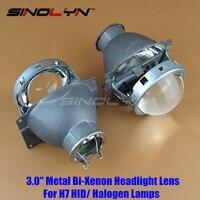 SINOLYN 3.0 inch H7 HID Xenon/ Halogen Headlight Bi-Xenon Projector Lens Q5 Metal LHD For Car Styling Headlamp Tuning Retrofit