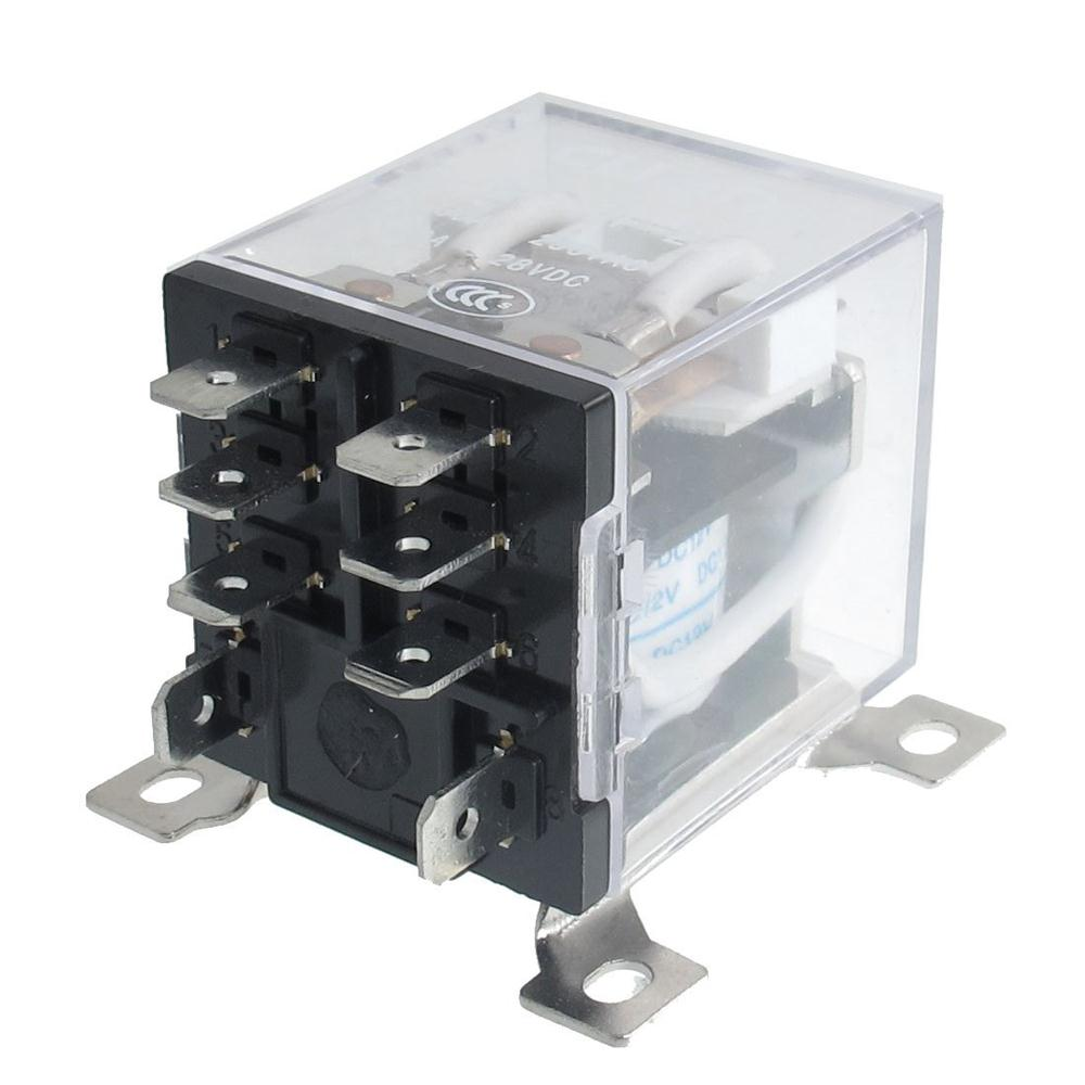 IMC Hot JQX-12F 2Z DC 12V 30A DPDT General Purpose Power Relay 8 Pin fused 4 dpdt 5a power relay interface module g2r 2 12v dc relay