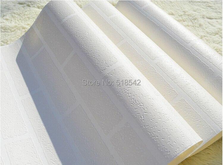 Nowoczesne 3D Cegły Off Biała Piana Grube Tłoczone Winylu oblicowywanie Ścian Ściany Rolki Papieru Tle Ściany salon Sypialnia Tapety 9