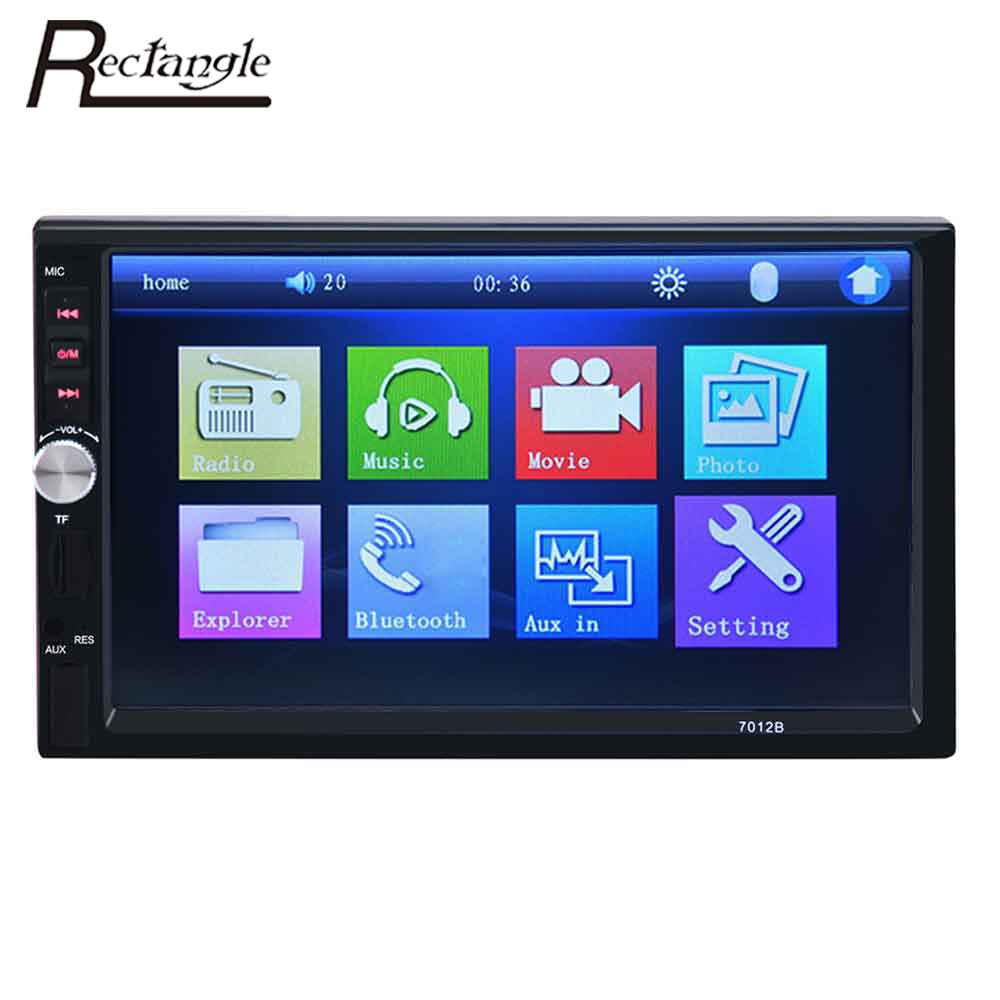 Rectangle 7012B 2 Din Car Video Player 7 Inch Auto Audio