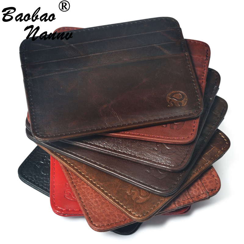 Men wallet business card holder multi card bit pack bag bank men wallet business card holder multi card bit pack bag bank cardholder vintage slim cow leather pickup package bus card holder colourmoves