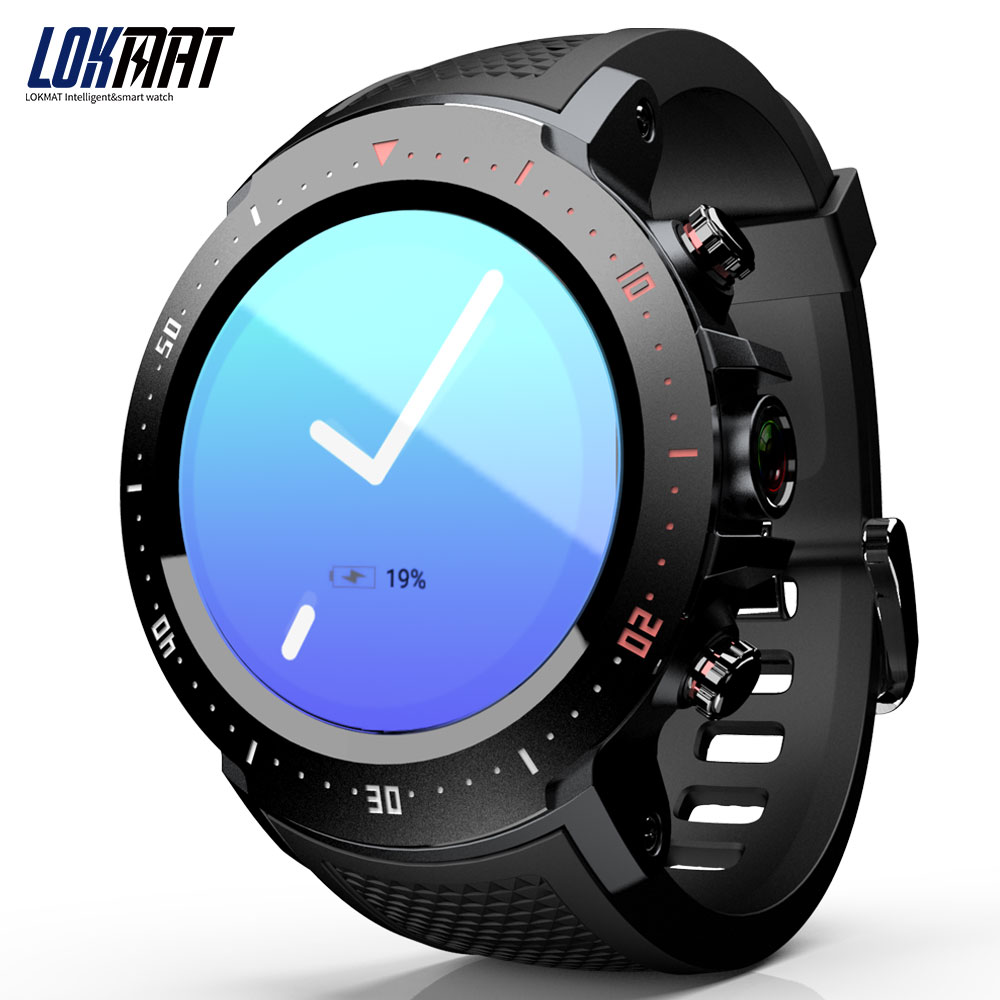 LOKMAT LK04 men's smart watch 4G LTE SmartWatch Phone clock Android 7.1 1GB+16GB 2MP Camera 530mAh GPS Watches reloj inteligente