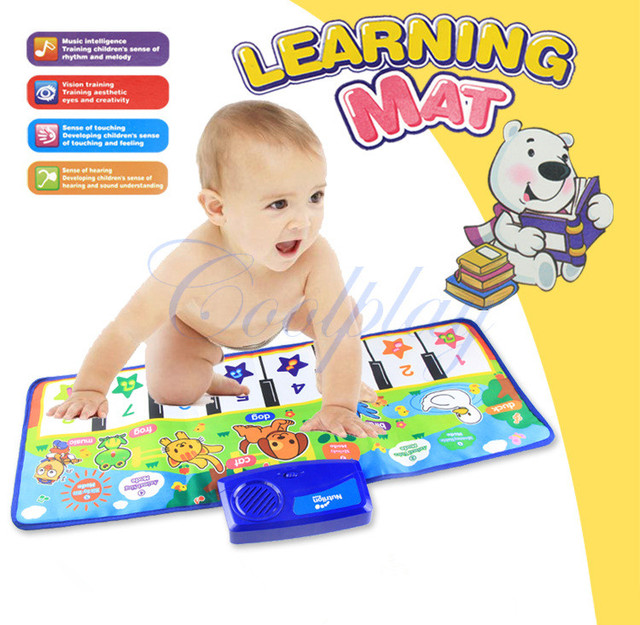 Música do Jogo do bebê Tapete de 71*28 cm Pano Colorido Tapete de Piano Brinquedos Educativos Para Crianças S50