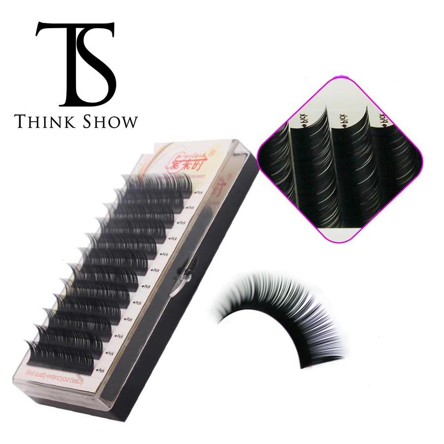 NEWCOME 3D Individual Eyelashes Extension Silk Volume Eye Lashes 100% Hand Made Natural Black Korea False Eye Lashes for Makeup