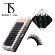 NEWCOME 3D Individual Eyelashes Extension Silk Volume Eye Lashes 100% Hand Made Natural Black Korea False Eye Lashes for Makeup