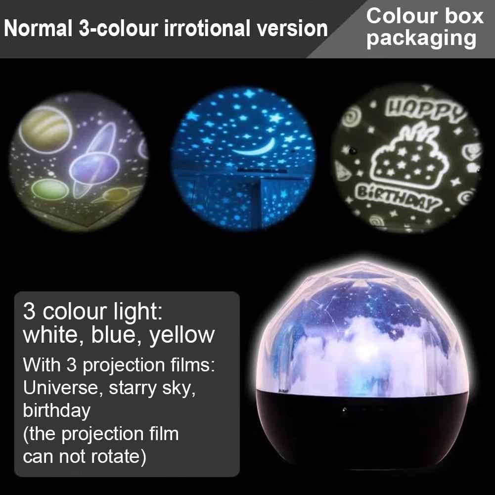 Небо Волшебная звезда планета Луна Вращающаяся лампа проектора светодиодный ночник Космос Вселенная Luminaria детский свет для новогоднего подарка