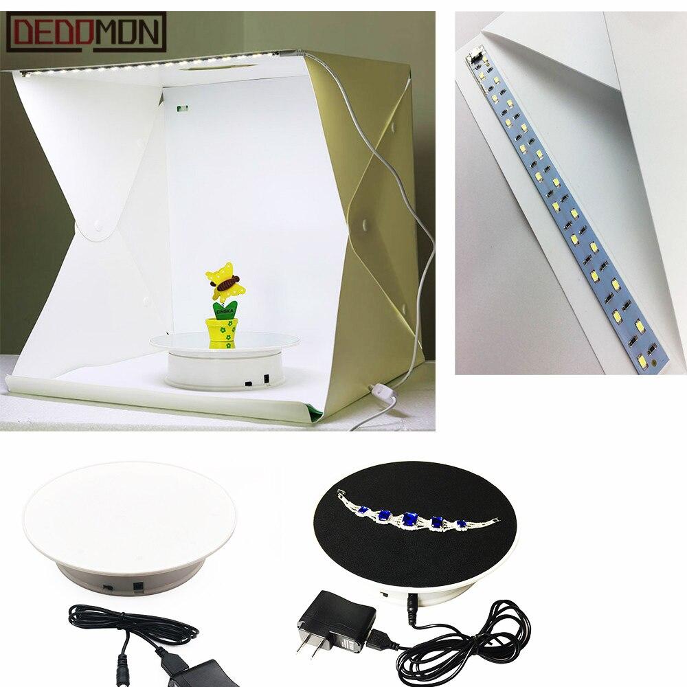 Soporte de pantalla giratoria eléctrica de 20 cm de 360 grados para fotografía carga máxima 1,5 kg accesorios de grabación de vídeo batería giratoria