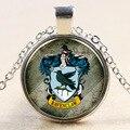 Venda quente Clássico Harry Potter Ravenclaw Texugo Amarelo Magia Crachá de Vidro Tempo Gems Colar Pingente Amigo presentes de Natal NN025