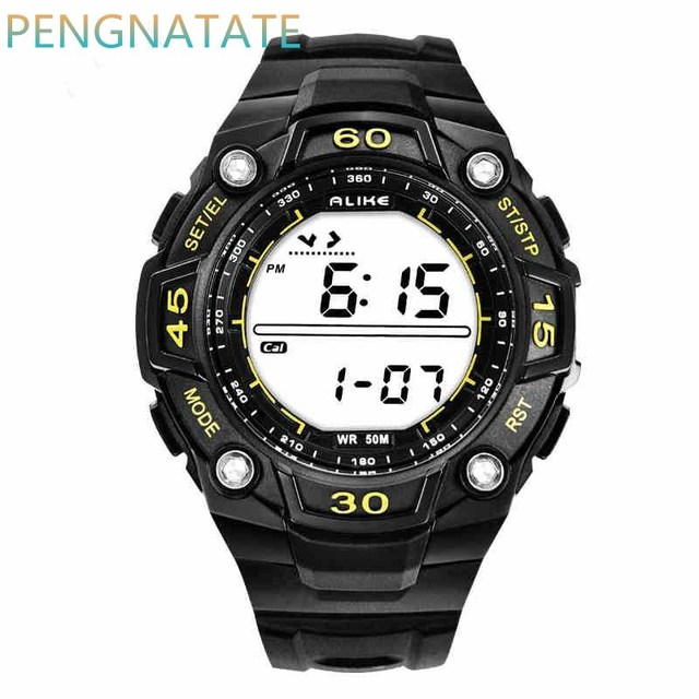 Alike LED Display Silicone Watches Men And Women Waterproof Vintage Bracelets relogio masculino student Digital Watch PENGNATATE
