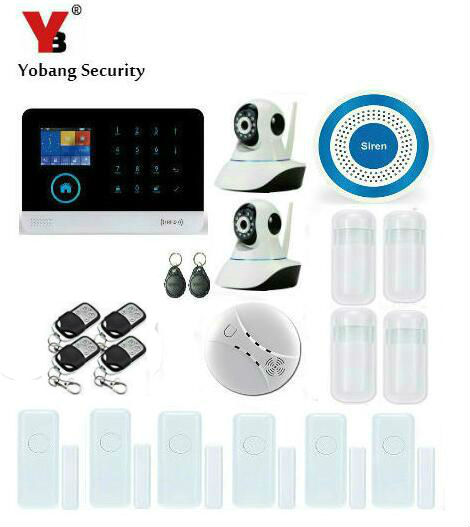 Yobang Security APP Control with Indoor IP Camera WIFI 3G Home Alarm System Security with Smoke/Fire PIR Motion Sensor yobang security wireless wifi gsm alarm system with pir motion smoke sensor detector ip camera app control alarm mainframe kits