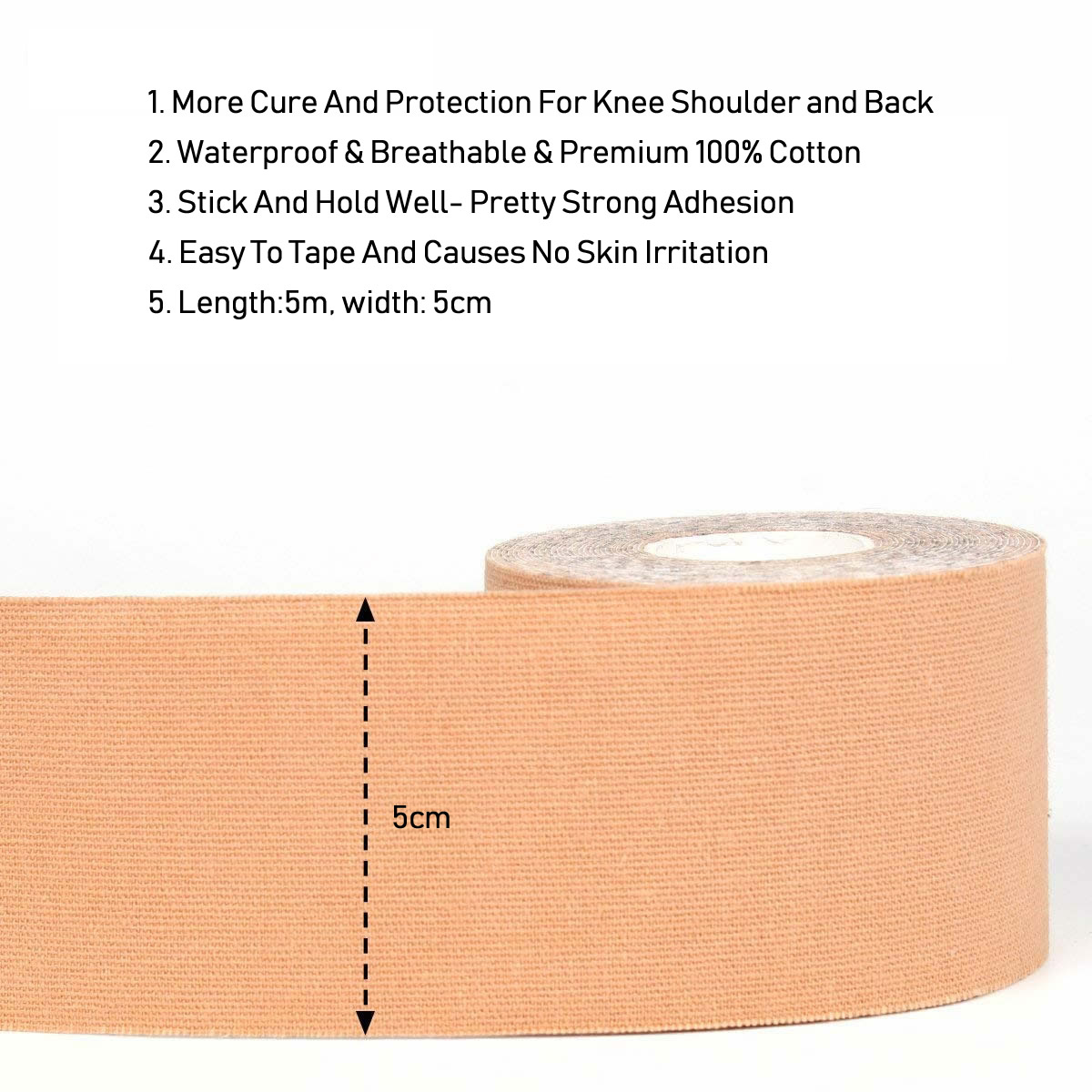 5cm*5m Kinesiology Tape Sports Reduce Pain Injury Recovery,Athletic Tape Gym Fitness Tennis Running Knee Muscle Wrap Protector 1