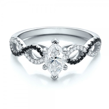 Brilliant Marquise 1 8CT Center Simulated Diamond Solid 9k Gold Jewelry Simulated Gem Stone White Gold