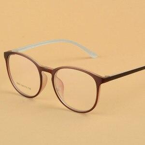 Image 5 - Transparente gläser Runde Brille Frauen TR90 Optische Auge Rahmen für männer Rezept Ultraleicht rahmen 643