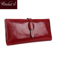 Genuine Leather Women Wallets Luxury Brand 2017 New Design High Quality Fashion Ladies Coin Purse Card