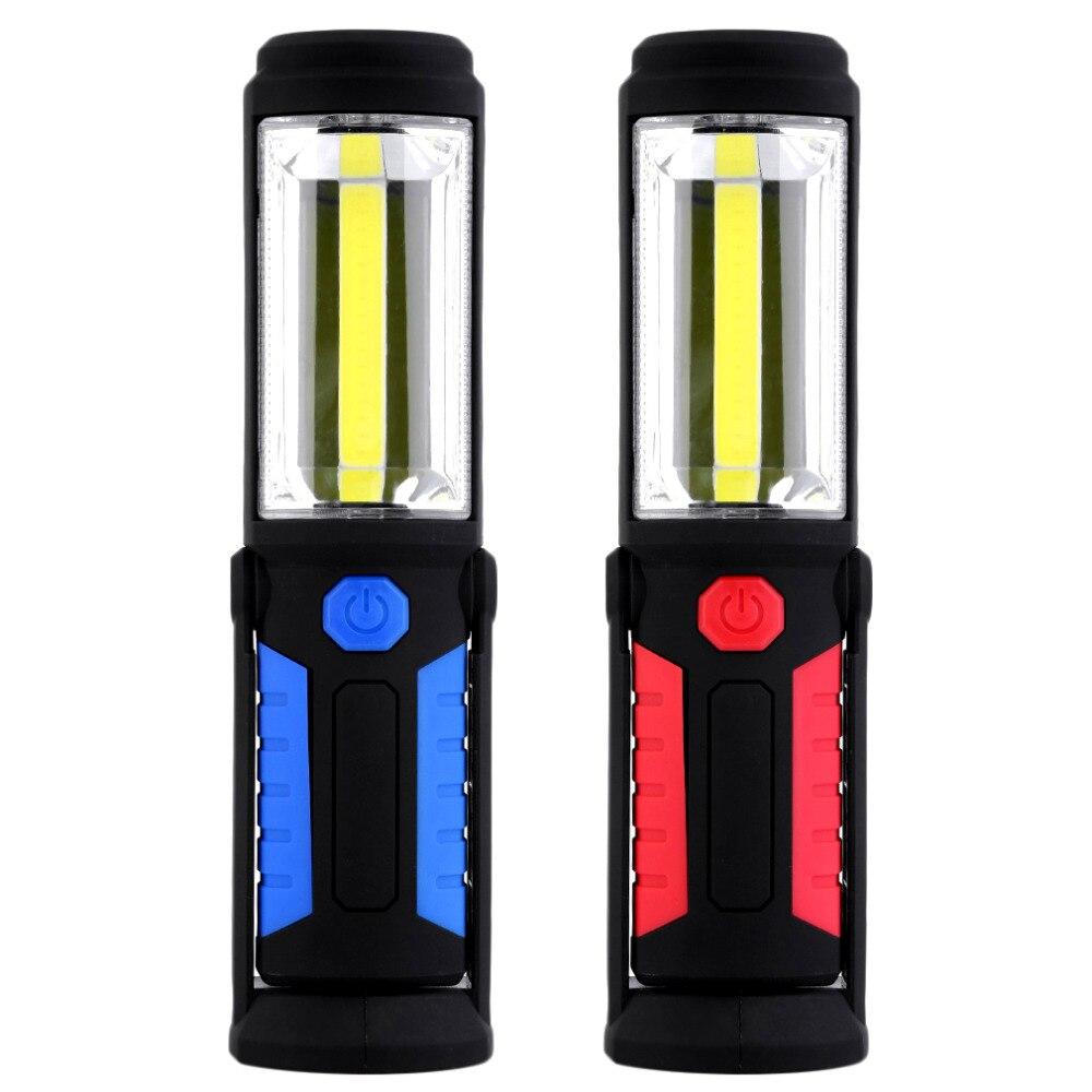 2 režīmi COB āra kempinga gaisma magnētiskā piekārta āķa spuldze avārijas lāpu gaisma ūdensizturīga 5W 350 lūmenu LED darba rokas lampa