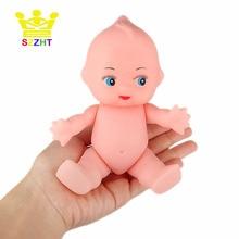 DIY Simulation Soft Baby Doll Bath Toys Emulated Kewpie Infant Figure Crafts for Children