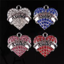 42d843bcdbfa Multi Color tía amor corazón cristal colgante para DIY collar pulsera hecha  a mano joyas de cumpleaños regalo Accesorios