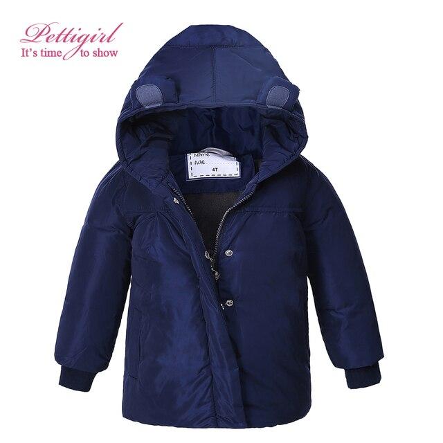 b396e5481 Pettigirl In Stock Children Blue Coats Full Sleeve Girls Winter ...