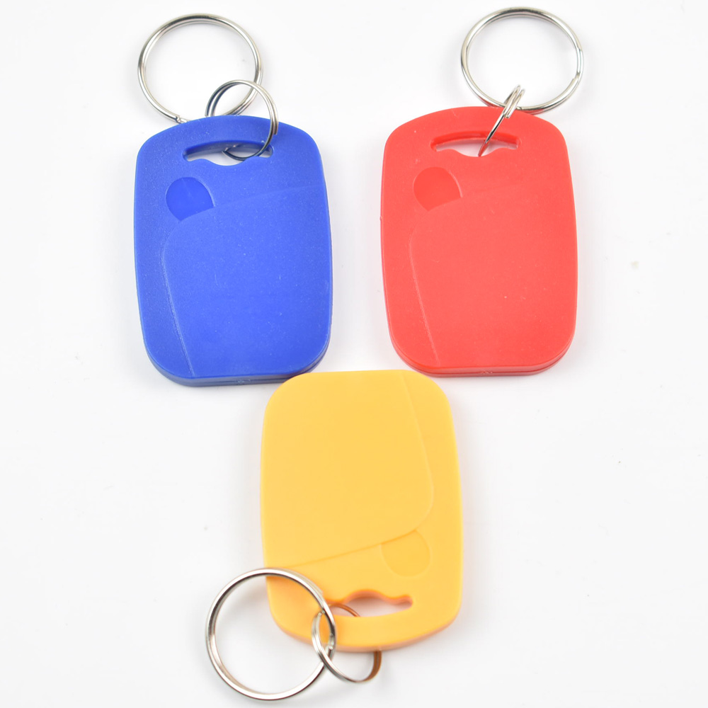 100pcs RFID key fobs 13.56MHz proximity ABS key ic tags Token Ring nfc 1k china Fudan S50 1K chip blue free shipping 200pcs mf1k s50 fudan 13 56mhz ic card