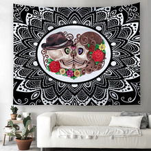 Printed Home Tapestry Wall Hanging Wall Decoration Beach Towel New Style Sugar Skull Psychedelic Witchcraft Tapestry