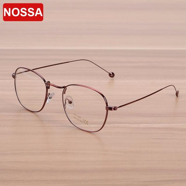 28e80732a8 NOSSA Brand Designer Men s Copper Glasses Frame Women s Metal Round  Spectacle Frames Elegant Prescription Eyewear Frame