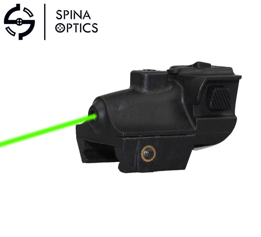 SPINA OPTICS Tactical Hunting Optics Green Dot Laser Sight Adjustable Mira Laser