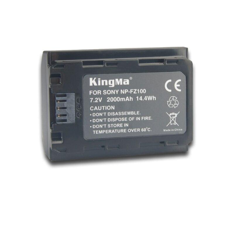 KingMa npfz100 Chargeur De Batterie + 3 pièces NP FZ100 NP-FZ100 Batterie pour Appareil Photo SONY ILCE-9 A7m3 a7r3 A9/A9R 7RM3 BC-QZ1 Alpha 9 9 S 9R - 3