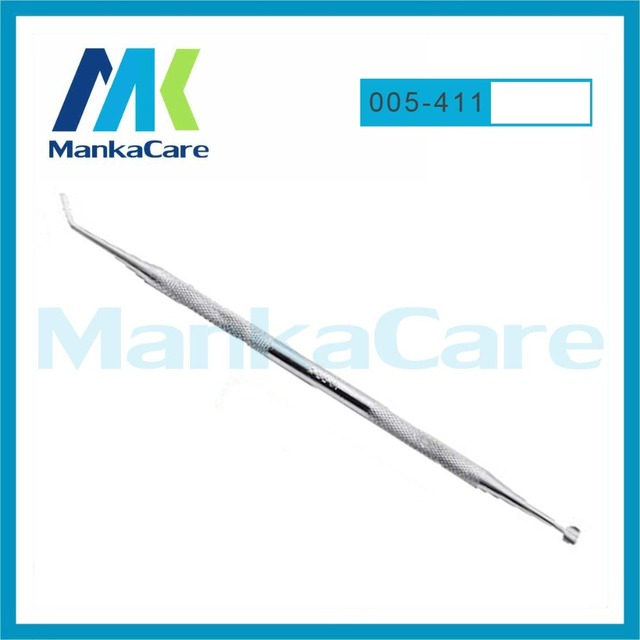 Manka Care - 5411 Stainless Steel Dental Probe Needle Instrument Oral Examination Tool