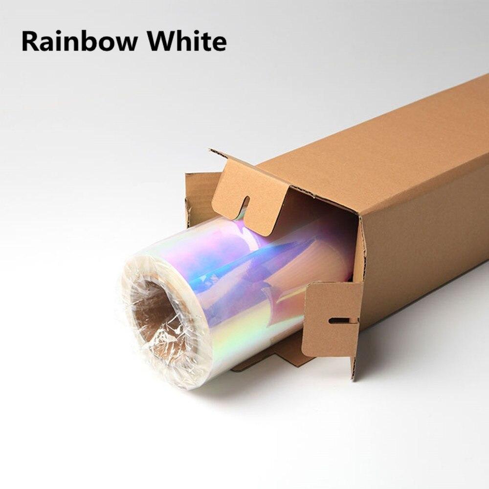 50 см* 100 см Нео хром голографическая теплопередача виниловая футболка виниловая Железная на ПЭТ Материал 20 ''x 39,37'' - Цвет: white