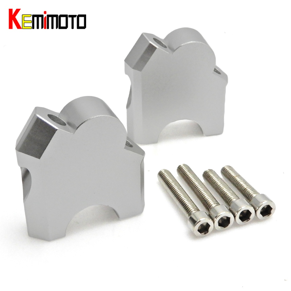 KEMiMOTO for Honda CRF1000L Handlebar Riser Handle bar Clamp Higher Extend Adapter CRF 1000L Africa Twin ABS/DCT 2016-2017 motorcycle rearview mirror motorbike rear view mirrors universal motocross for honda crf1000l crf 1000l africa twin 2015 2017