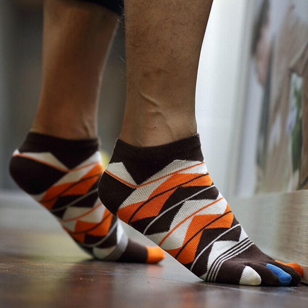 1 Paar Männer Frauen Unisex Socken Baumwolle Fünf Finger Socken Zehensocken Männer Zubehör 4 Farben Taille Und Sehnen StäRken