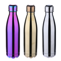 500ml Thermal Cup Coke Vacuum Cup Outdoor Camping Hiking Portable Plating Doule Stainless Steel Mirror Water