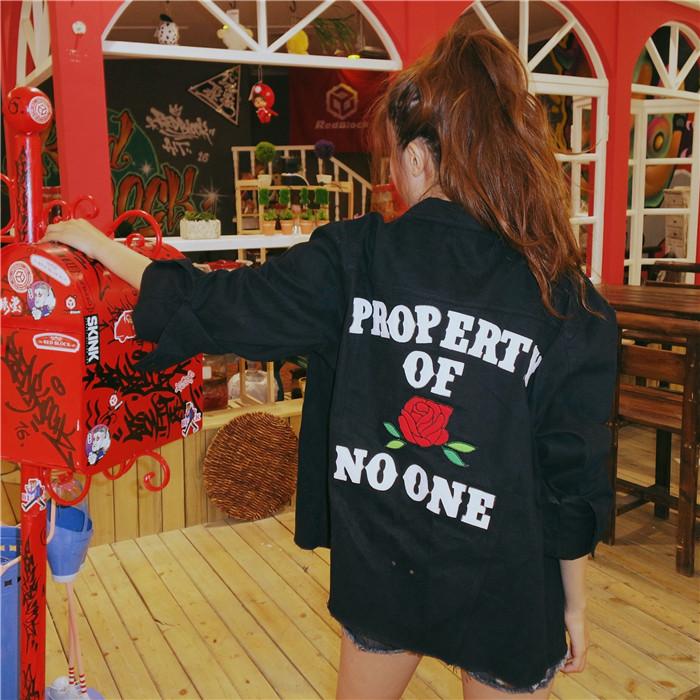 HTB1rseJNFXXXXapXVXXq6xXFXXXI - property of rose no one embroidery jacket High Heels Suicide rose jukpop 001