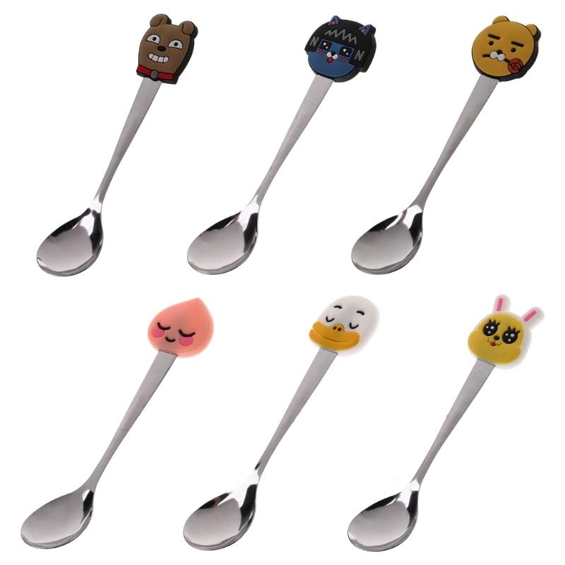Baby Spoon Stainless Steel Cartoon Food Tableware Dinner ...