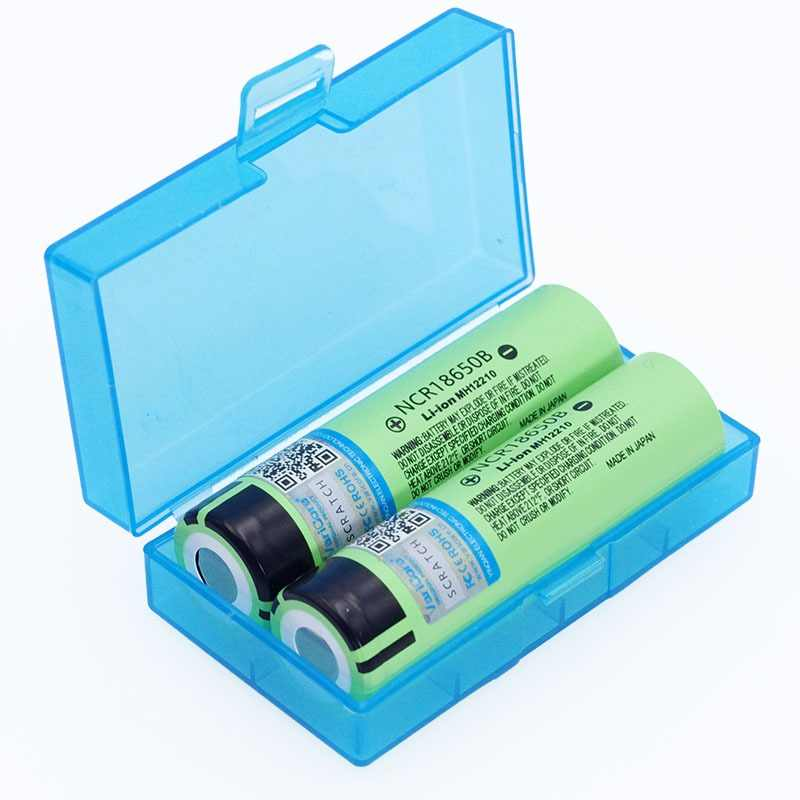 VariCore New Original 18650 NCR18650B Rechargeable Li-ion battery 3.7V 3400mAh For Flashlight batteries + Storage box