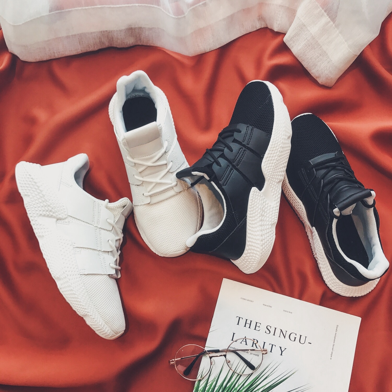 Décontractées Coréenne La Personnalité Respirant And white Version Printemps Hommes Chaussures Étudiants De Nouveau Tendance Sauvage Black White Blanches Sport QshdCtr