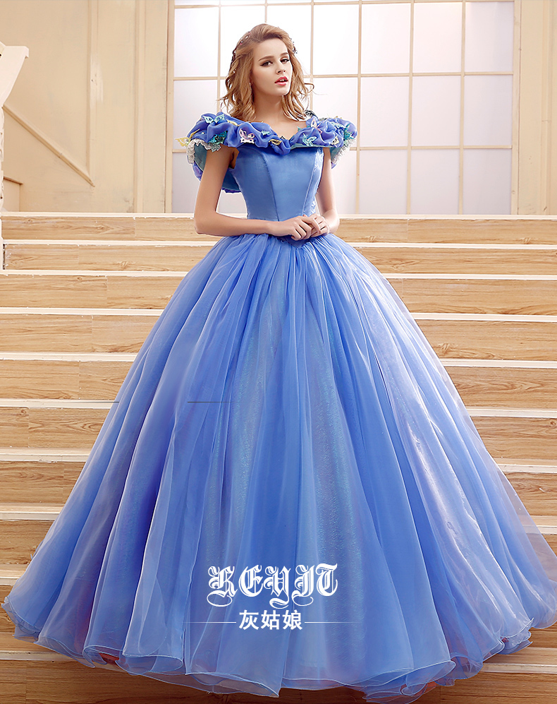 2015 deluxe customized cinderella princess dress movie cosplay cinderella costume movie. Black Bedroom Furniture Sets. Home Design Ideas