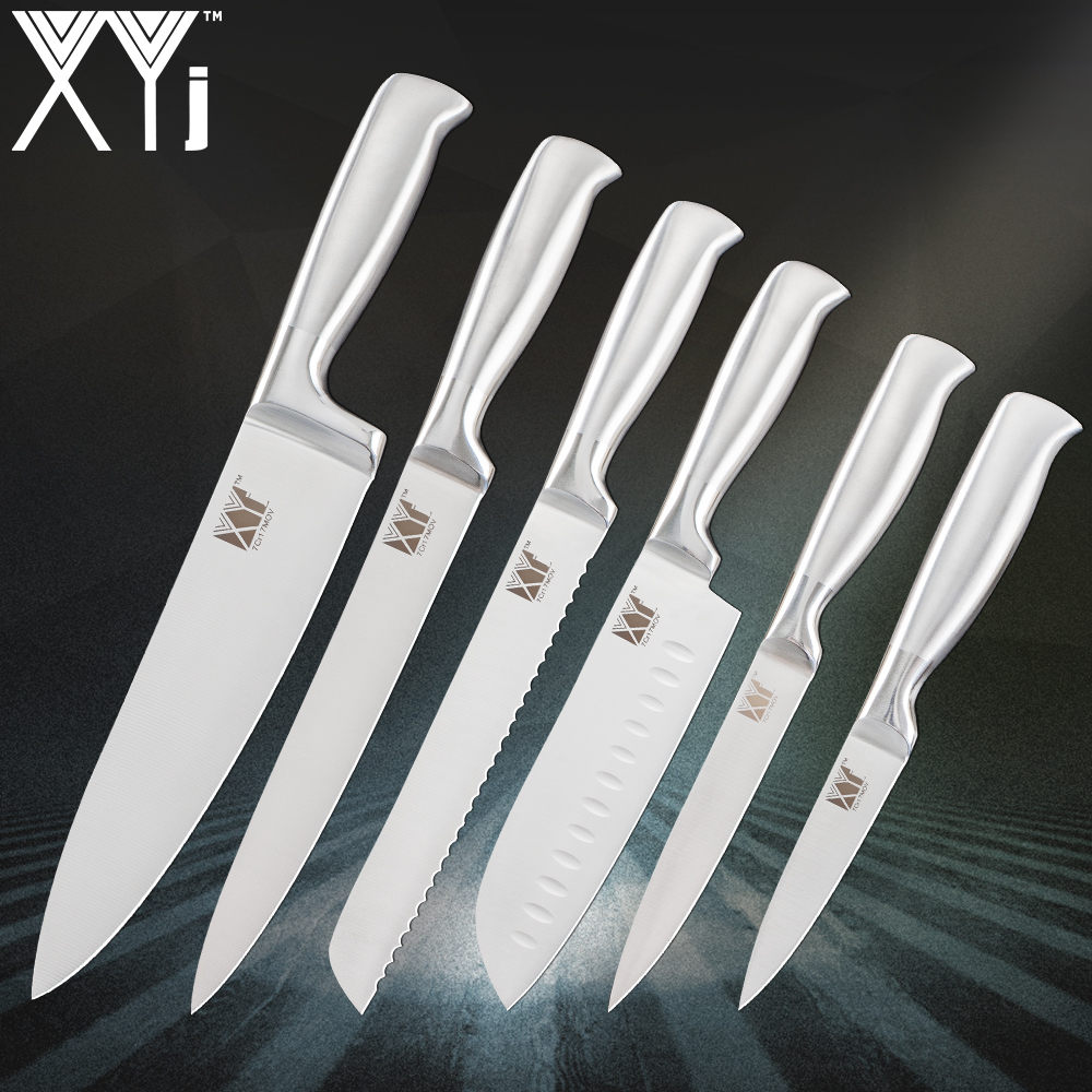XYj Stainless Steel Kitchen Knives Ergonomic Design ...