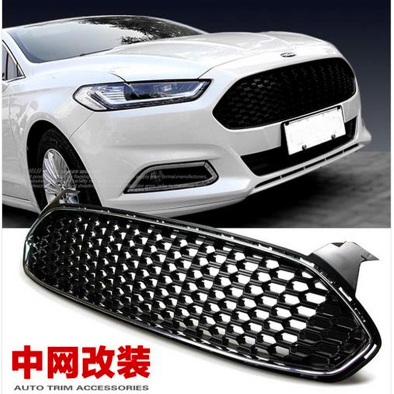 Mustang Logo Abs Chrome Car Front Grille Around Trim
