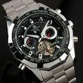 FORSINING 2016 Homens Relógios Homens Relógio Automático Skeleton Tourbillon Relógio Militar Relógio Mecânico Relogio Masculino Saat Erkek