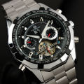 FORSINING Men Watches 2016 Tourbillon Clock Men Automatic Watch Skeleton Military Watch Mechanical Relogio Male Erkek Saat