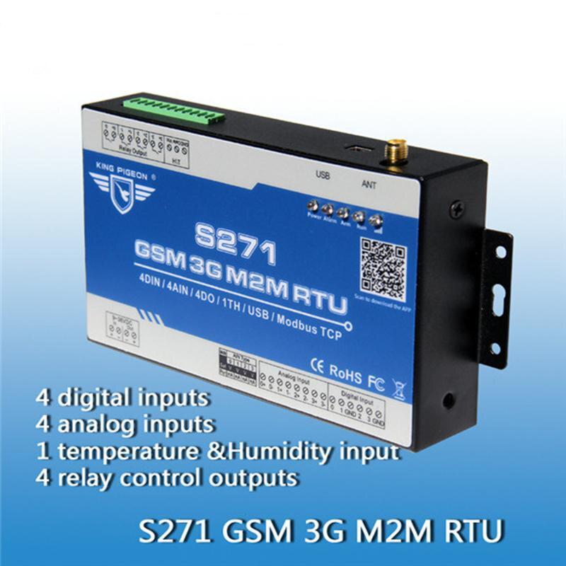 King Pigeon S271 livraison gratuite 3G GSM terminal de commutateur de télécommande/contrôleur de PLC GSM sans fil avec SMS