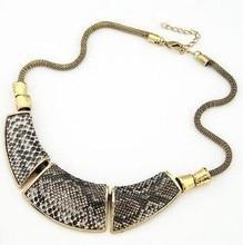 Luxury Snake Stripe Pendant Necklace