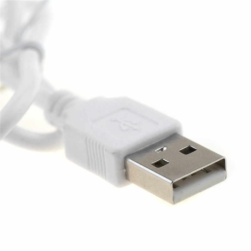 1 مجموعة USB إلى 10 قطعة DC قابس طاقة مهايئ شاحن كابل للموبايل استخدام الأبيض عدة