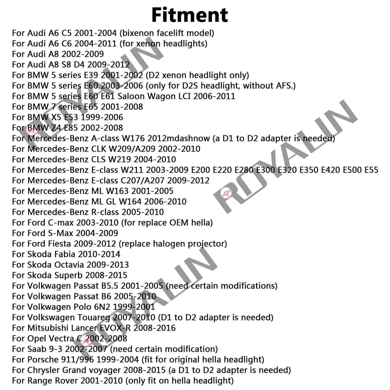 Hella EVOX 2.0 D2S proyektor üçün ROYALIN BMW E39 E60 Ford Audi A6 - Avtomobil işıqları - Fotoqrafiya 5