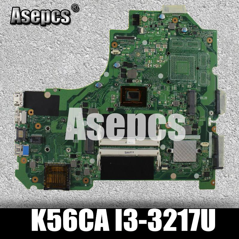 Asepcs K56CA Laptop motherboard for ASUS K56CA K56CM K56CB K56C K56 S550CA Test original motherboard I3-3217UAsepcs K56CA Laptop motherboard for ASUS K56CA K56CM K56CB K56C K56 S550CA Test original motherboard I3-3217U