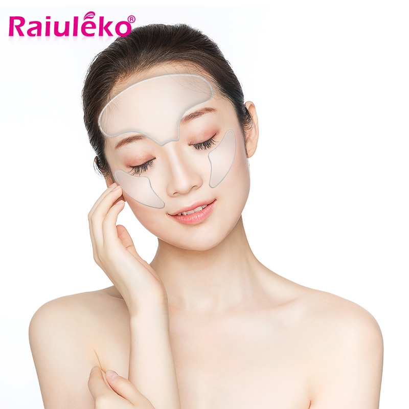 1PCS Anti Wrinkle Eye Face Pad Silicone Anti-wrinkle 100% Medical Grade Reusable Invisible Pads Eliminate Prevent Chest Wrinkle