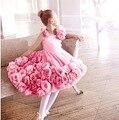 Белоснежка платья девушек хозяин свадебный цветок платье принцессы блошница детей платье