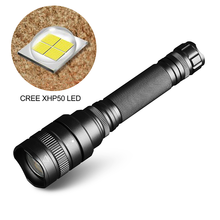 XHP50 LED Flashlight Zoom 10000 LM high power rechargeable led flashlights 5 Modes Waterproof Torch lanterna xhp70 18650 camping(China)