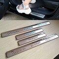 Aptos Para la Versión Europea VW Passat B7 2011-2015 accesorios Del Coche Cubierta de La Placa Del Desgaste Del Travesaño de la puerta de acero Inoxidable 2012 20013 2014